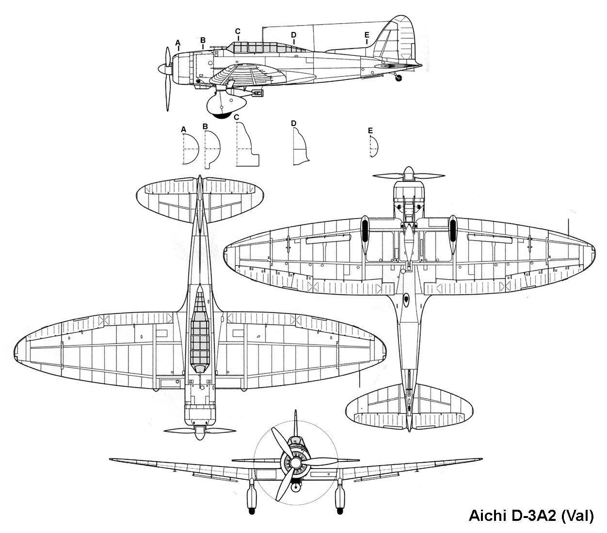 Aichi D3a2 Blueprint