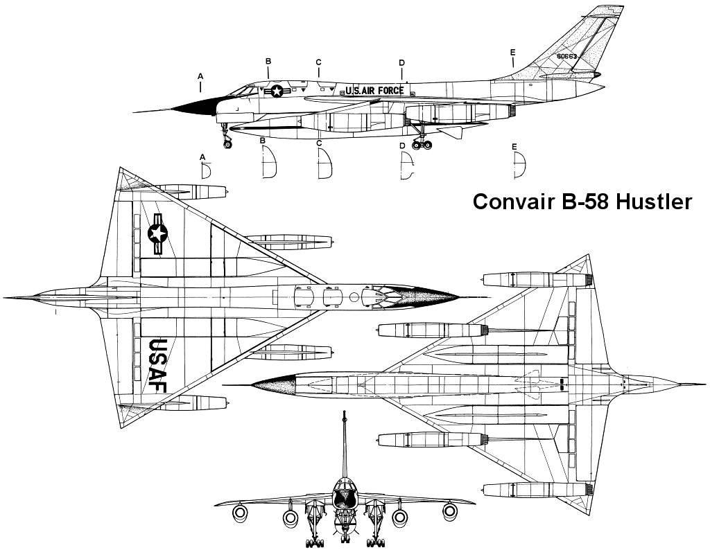 Convair B 58 Hustler Blueprint