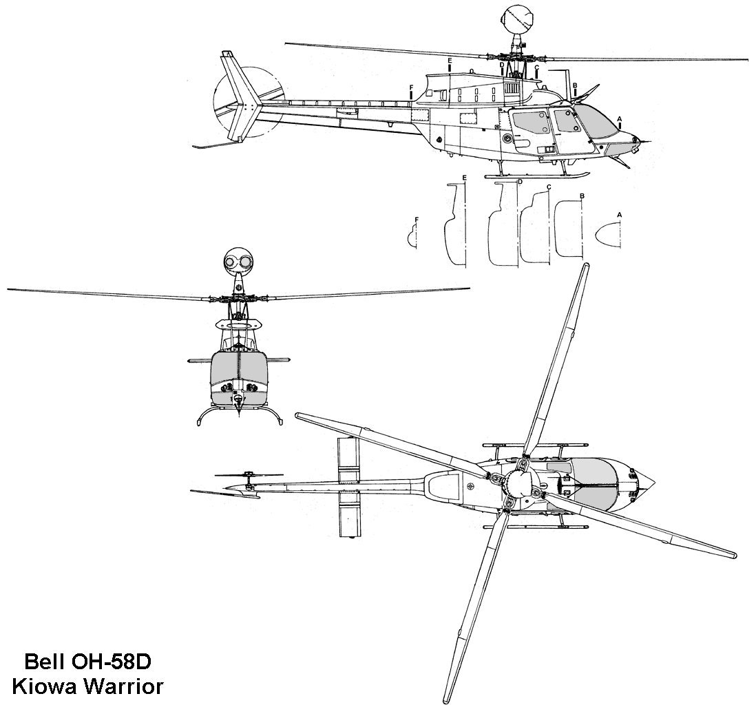 Bell Oh 58d Kiowa Warrior Blueprint