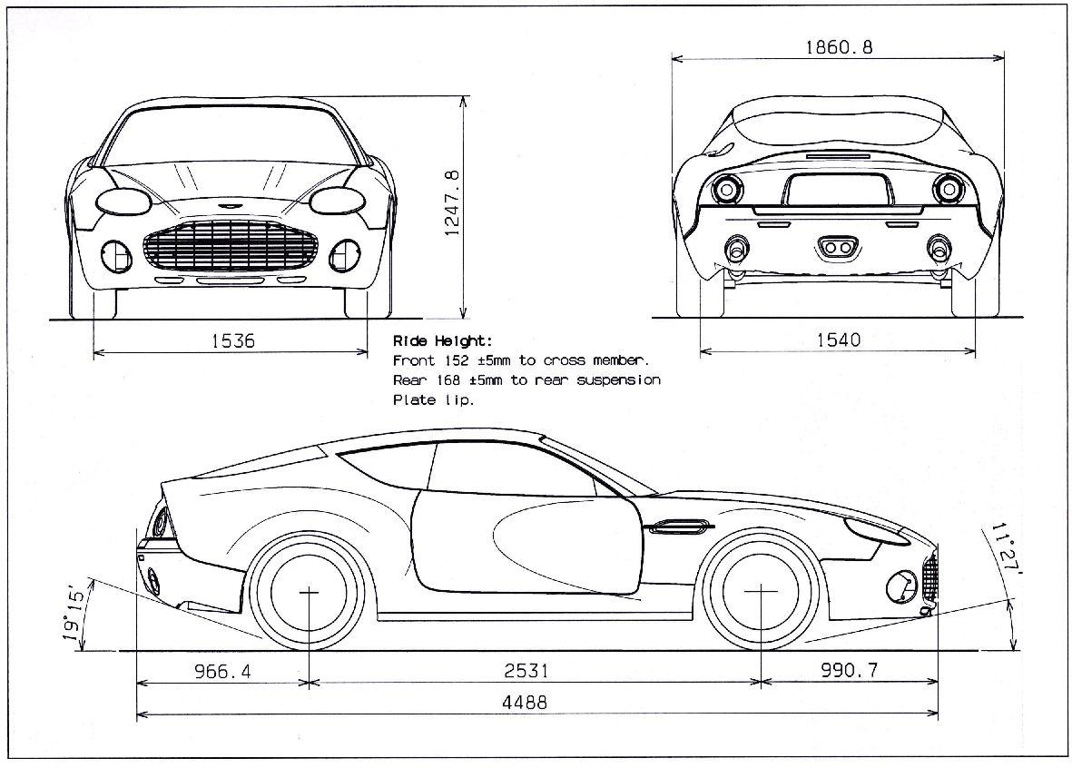 Aston Martin Db7 Zagato Blueprint