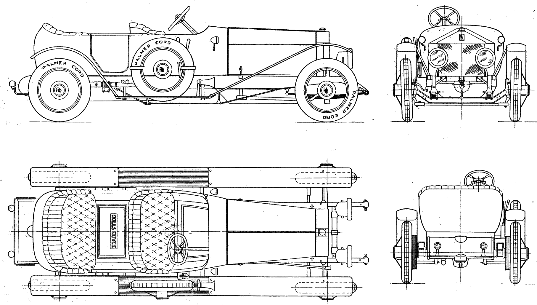 Rolls Royce 40 50 Hp Blueprint