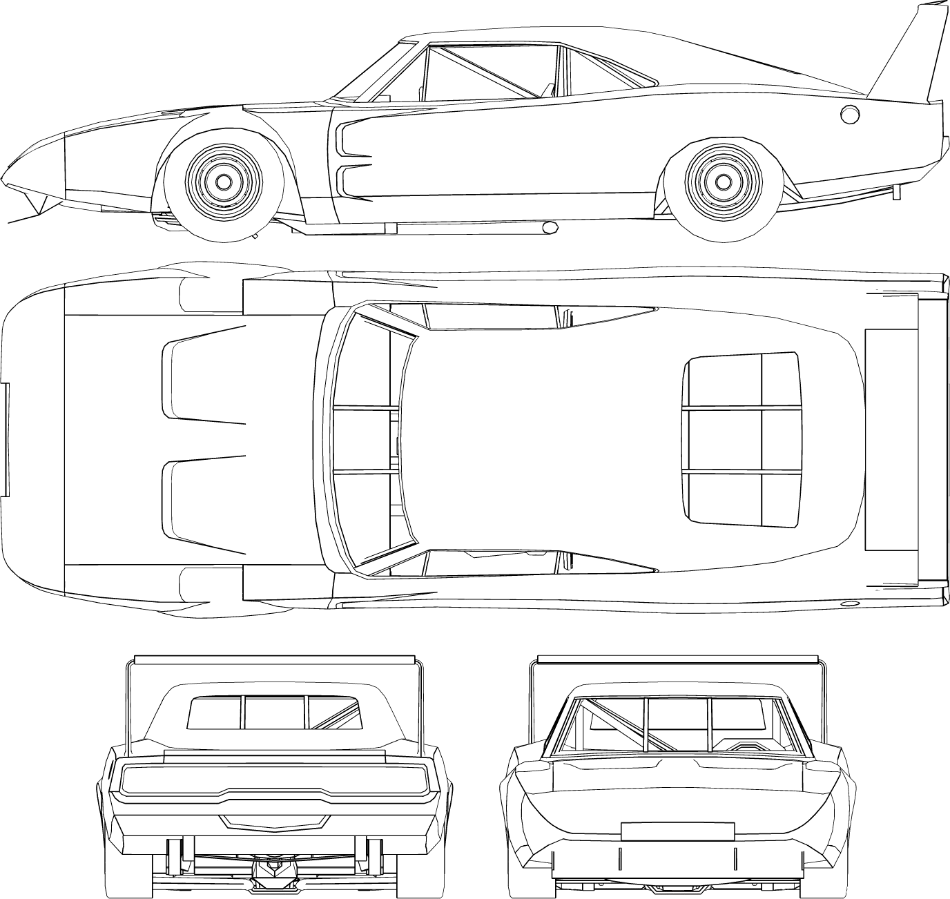Dodge Charger Daytona Blueprint