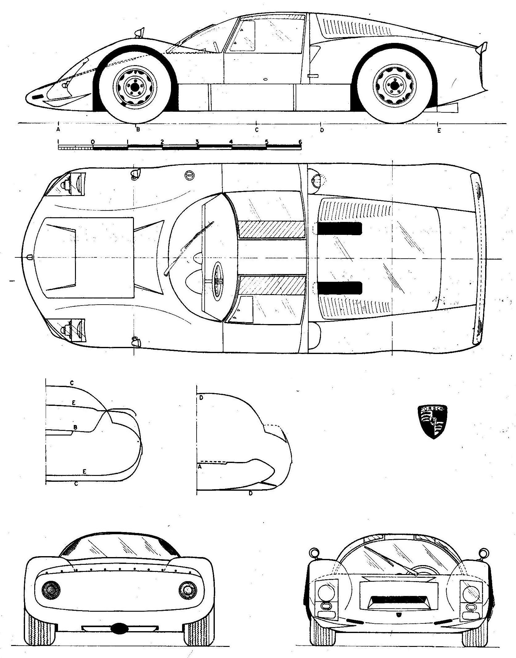 Porsche 906 Blueprint