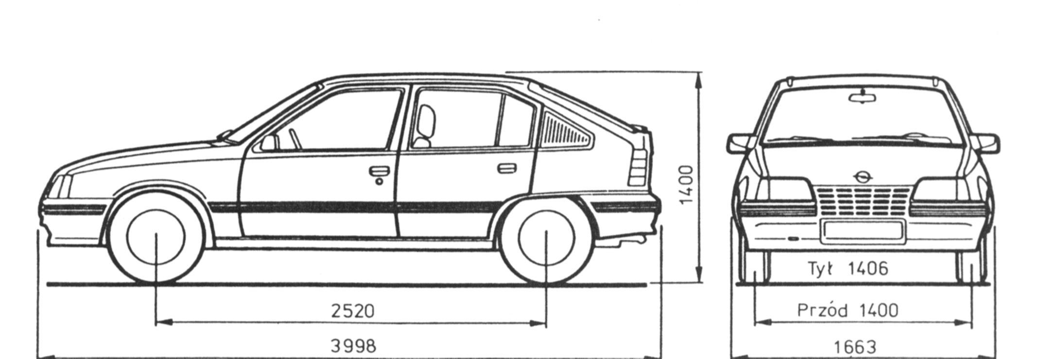 Opel Kadett E Blueprint Download Free Blueprint For 3d
