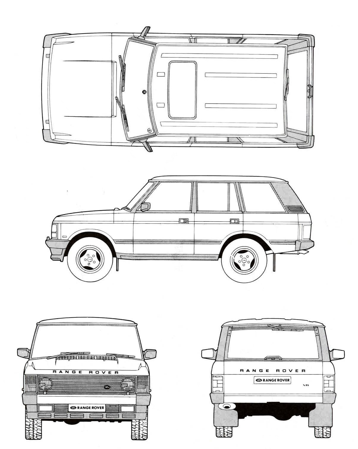 Land Rover Range Rover Blueprint