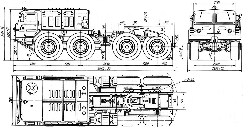 Maz 537 Blueprint