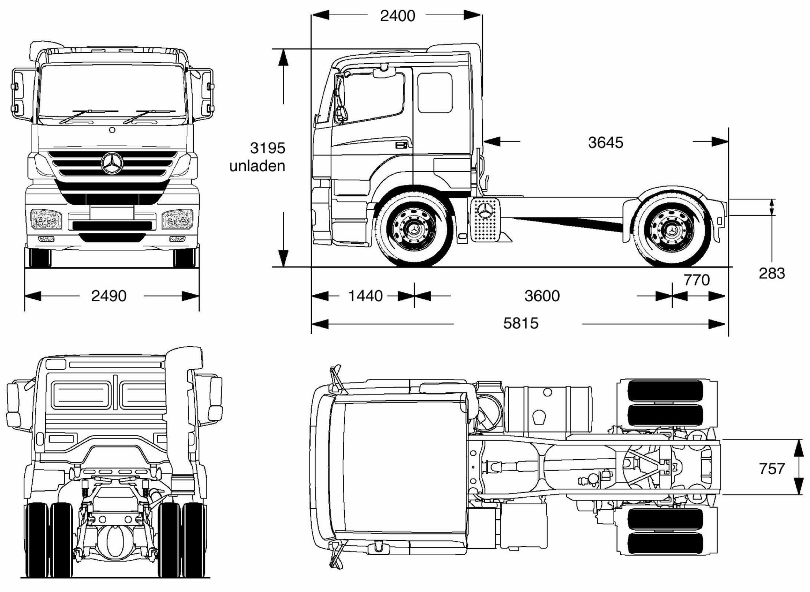 Mercedes Benz Axor Blueprint