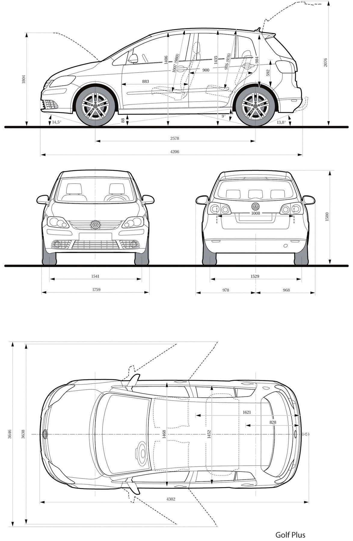 Dimension Golf Plus Dossier Volkswagen Golf Plus Le Petit