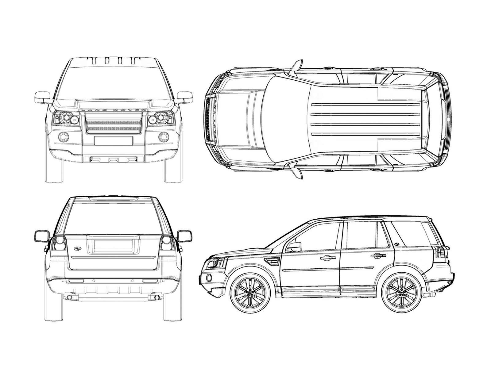 Land Rover Freelander 2 Blueprint