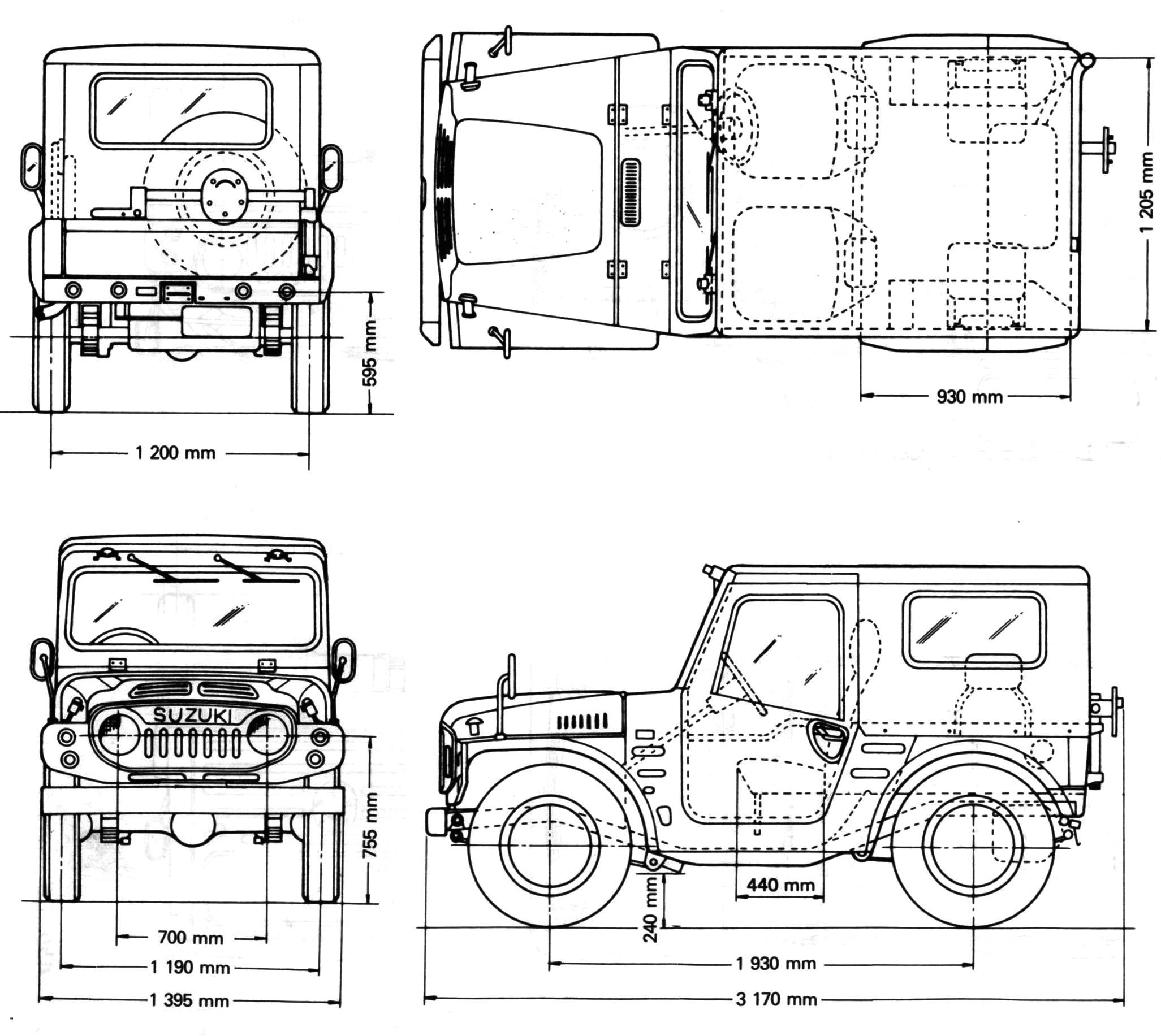 Suzuki Jimny Blueprint
