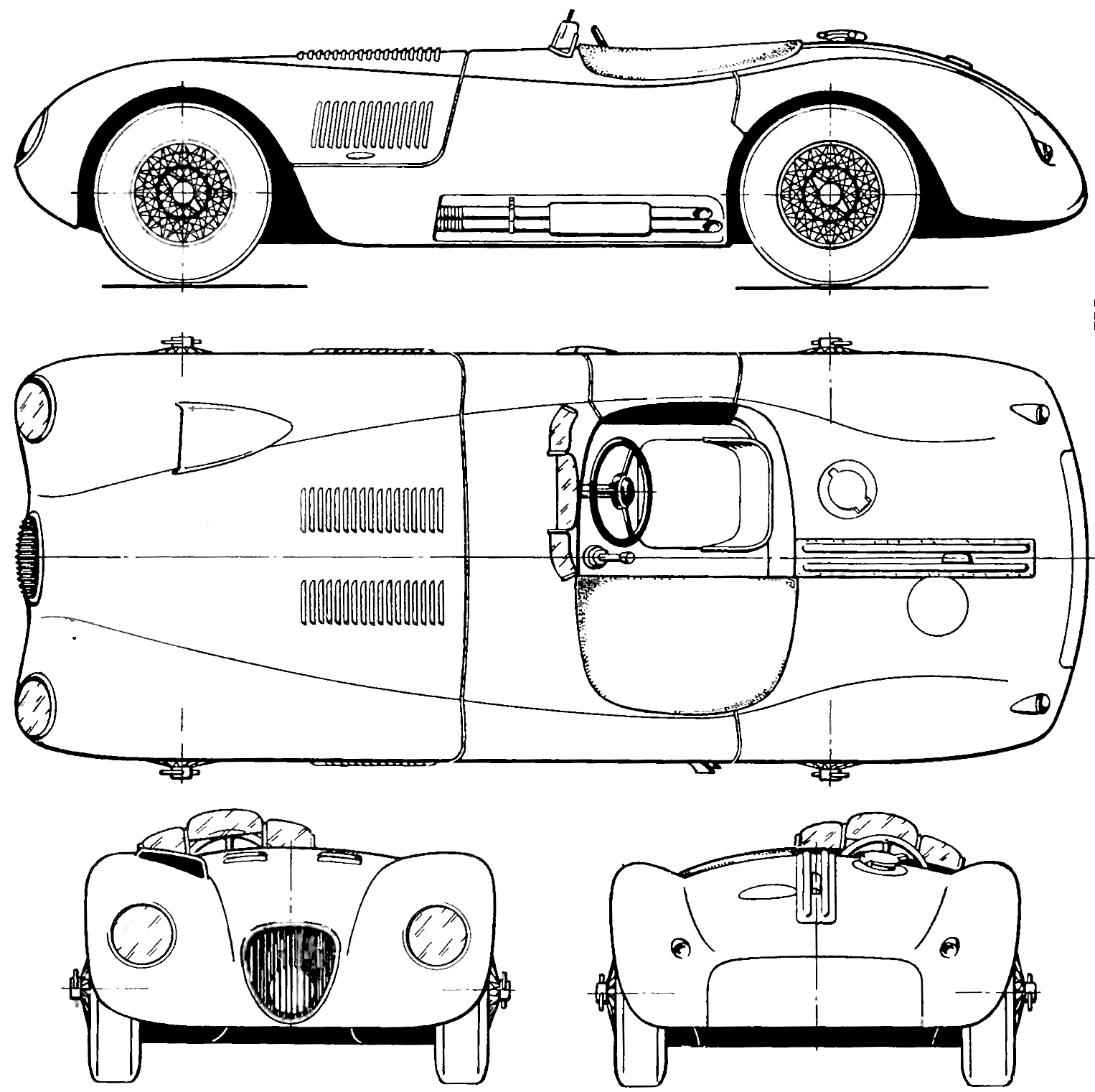 Jaguar C Type Blueprint