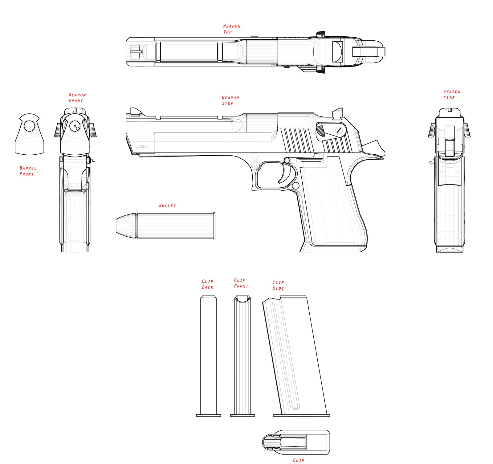Military Pistol Blueprints Pictures To Pin