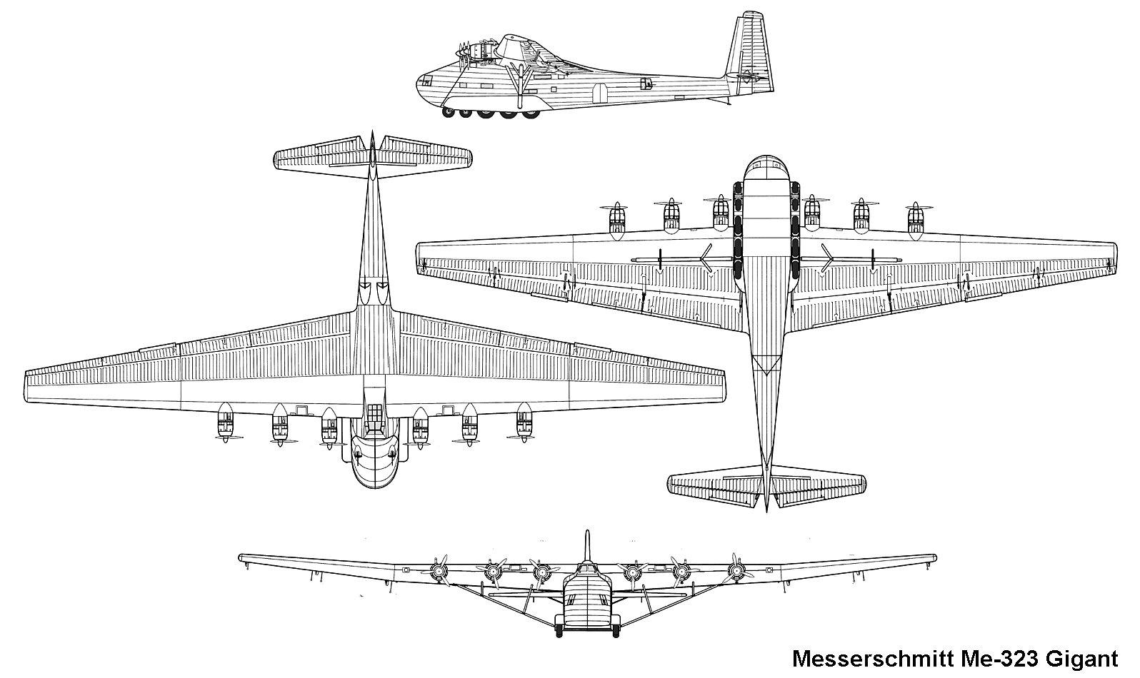 Messerschmitt Me 323 Blueprint