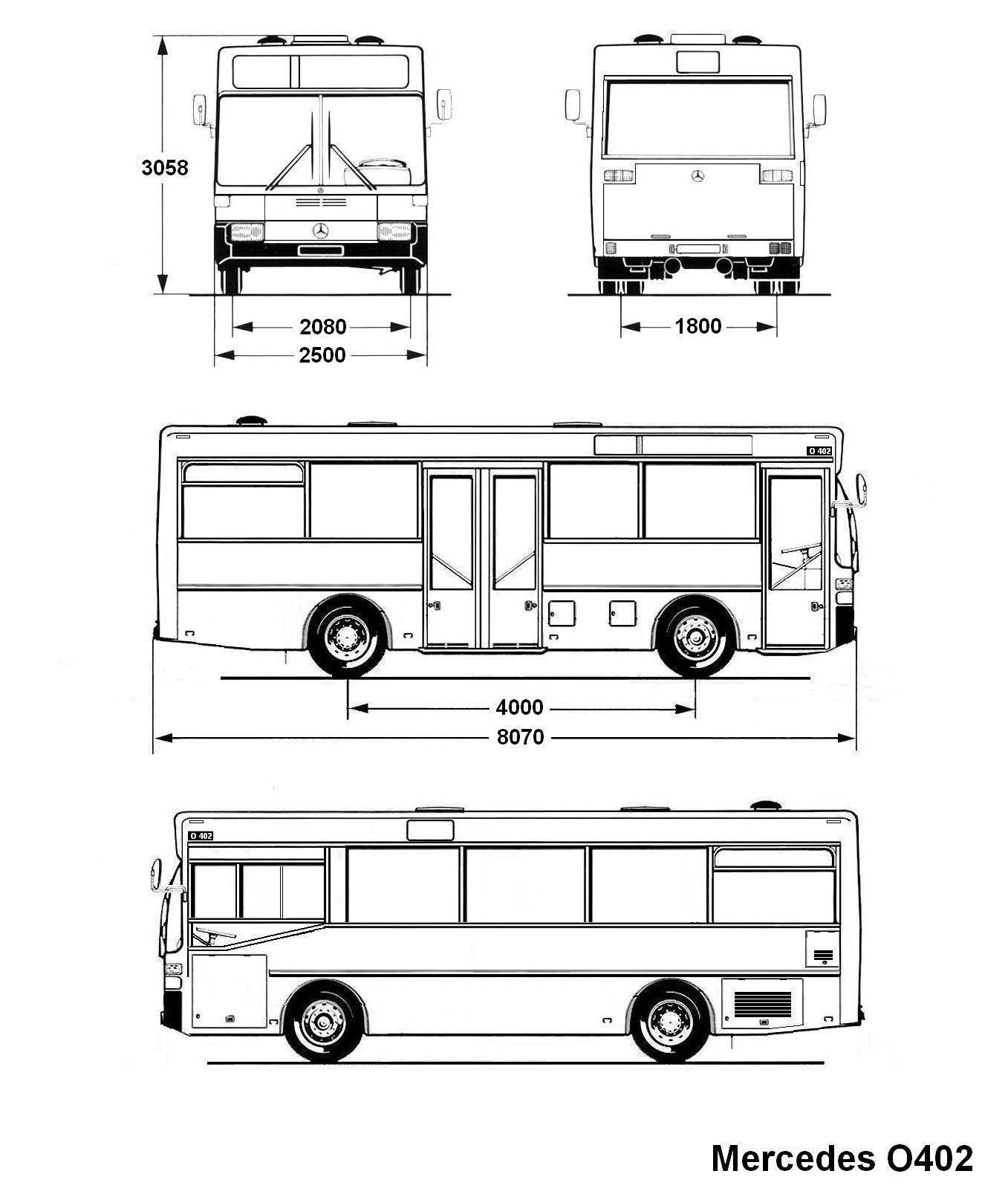 Mercedes Benz O402 Blueprint