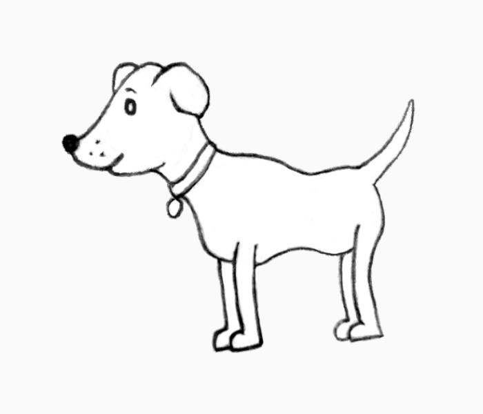 dog outline- easy-dog-drawing