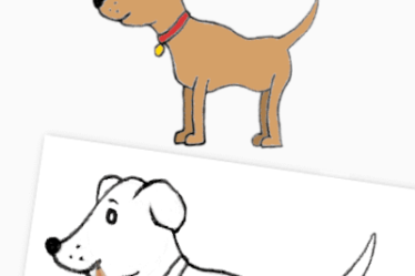 how to draw a easy dog