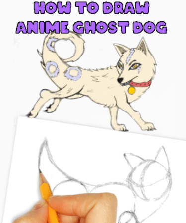 how to draw anime dog-ghost dog
