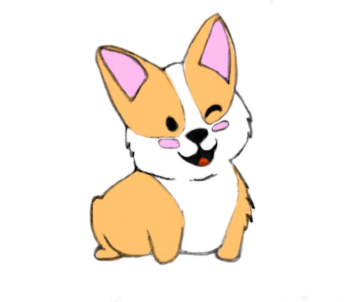 kawaii-cute-corgi-drawing