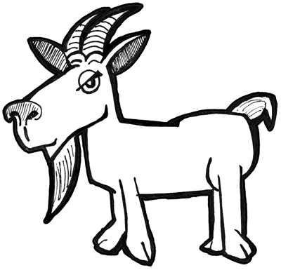 How To Draw Cartoon Billy Goats With Simple Drawing Tutorial How To Draw Step By Step Drawing Tutorials