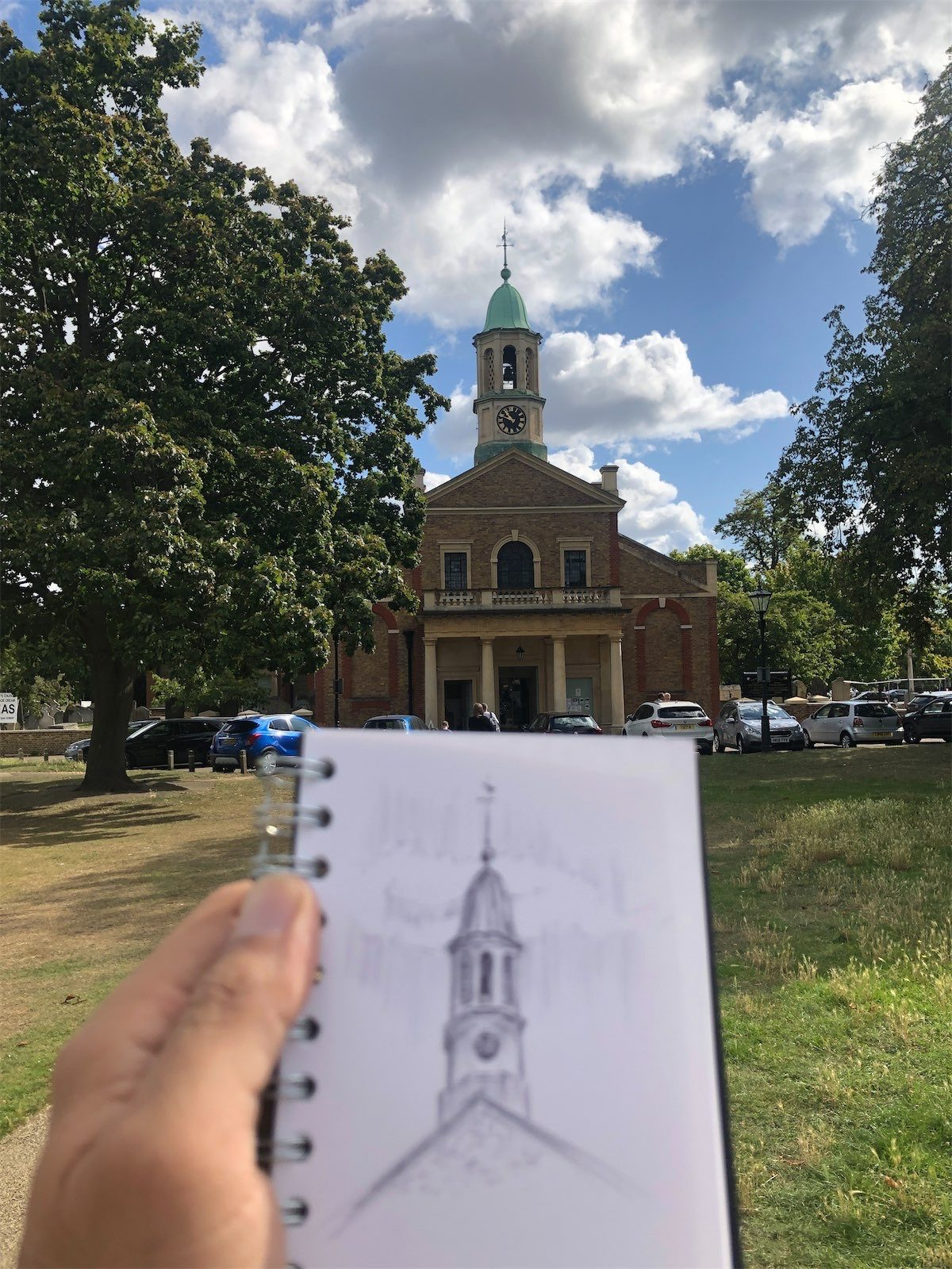 walking drawing in richmond