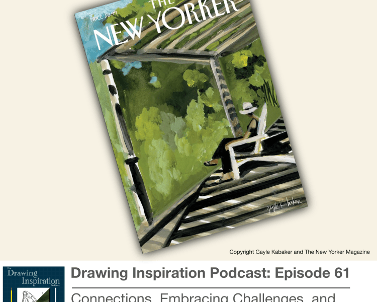 Painting of the August cover of The New Yorker by Gayle Kabaker