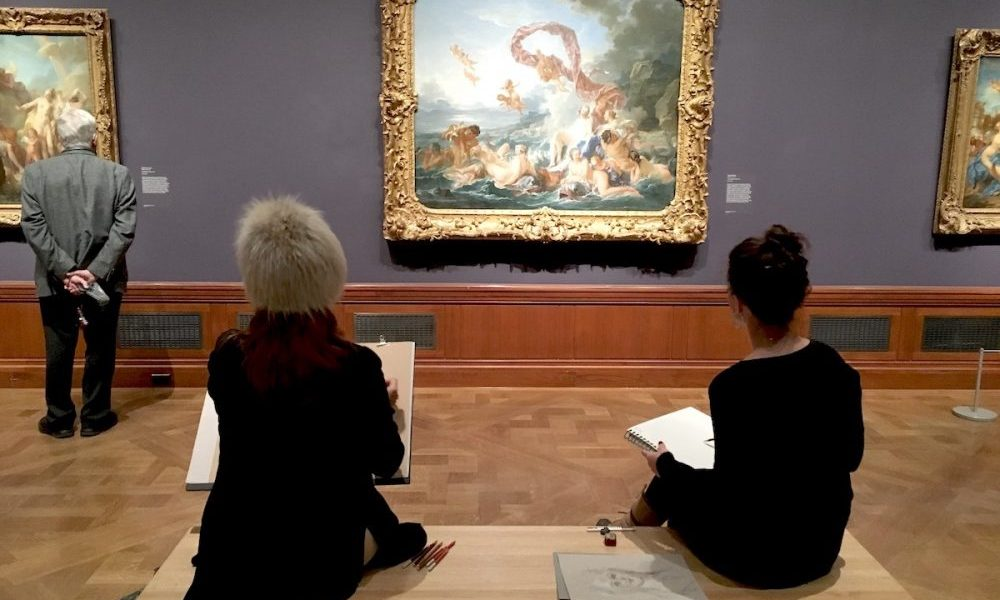 The Morgan Sketching in The Galleries
