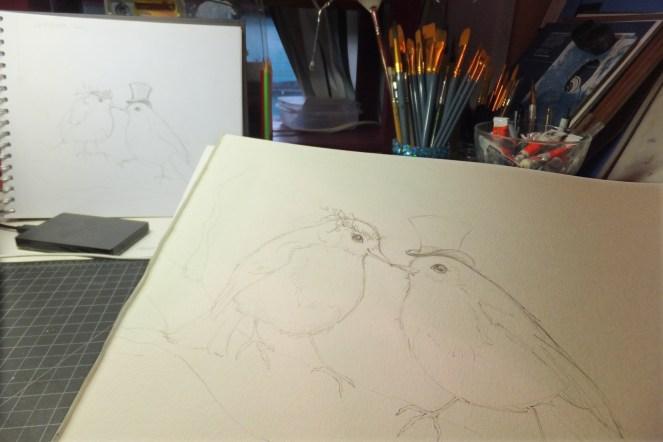 Love Birds_sketch