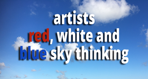 Artists – red,white and blue sky thinking
