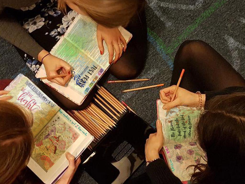 Women Bible Journaling