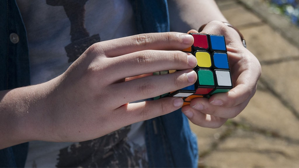 Doing the Rubik's cube is an example of visual spatial intelligence