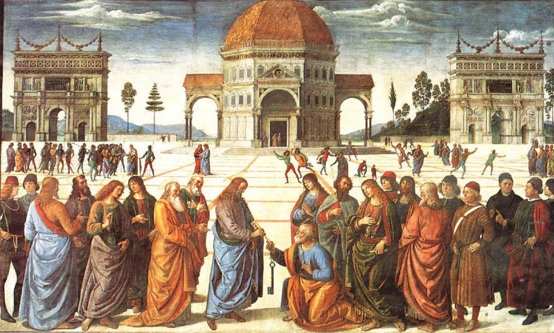Delivery of the Keys by Pietro Perugino (1481-82)