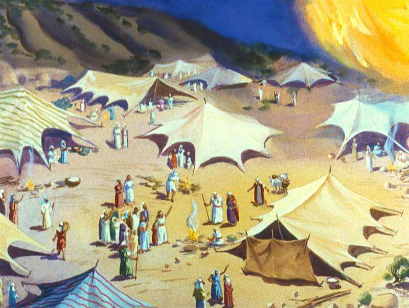 The Israelites were guided by a pillar of fire by night