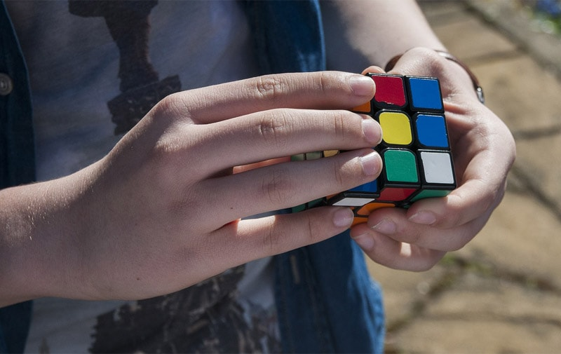 The Rubik's Cube is an illustration of how God sees the bigger picture when we can't