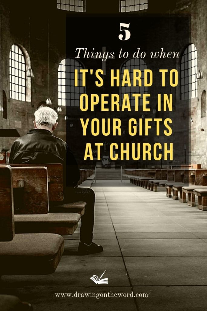 5 things to do when it's hard to operate in your gifts at church . Do you find it hard to operate in your gifts at church because others don't recognise? Here are 5 things you can do to help you. Part 1 of a 3-part series. #gifts #talents #buryingyourtalent #parableofthetalents #calling '#identity #spiritualgifts