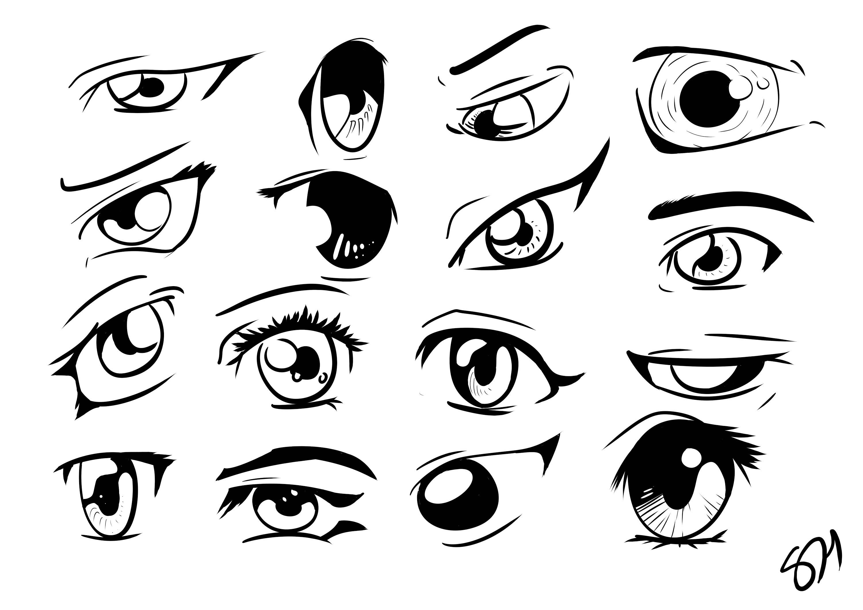Anime And Manga Eyes Drawing Reference And Sketches For