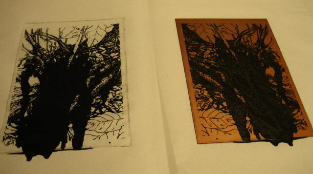 First proof, etching