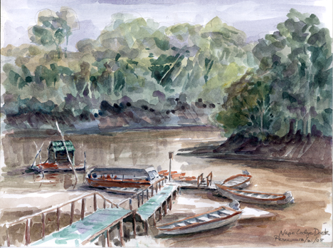 Boat dock on the Napo River; our starting point for walking into the jungle.