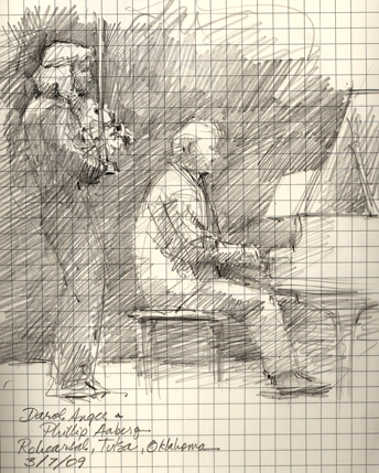 Rehearsal in Tulsa: Darol Anger and Philip Aaberg Concert