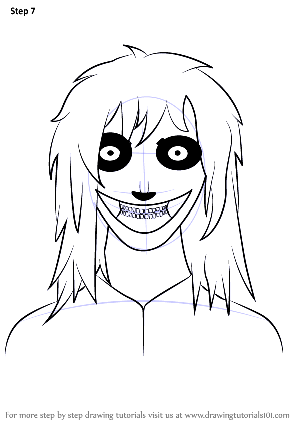 Learn How To Draw Jeff The Killer Characters Step By