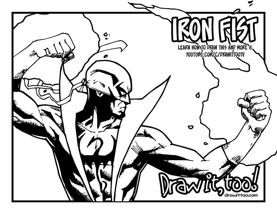 iron_fist_coloring_page