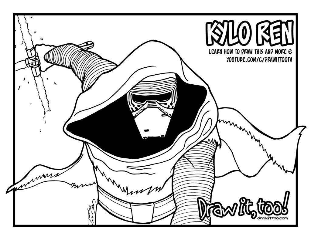 Kylo Ren Lightsaber Coloring Pages