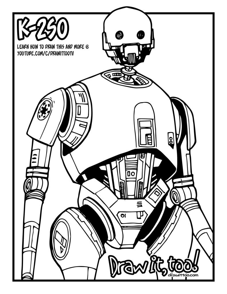 k 2so rogue one a star wars story u2013 draw it too
