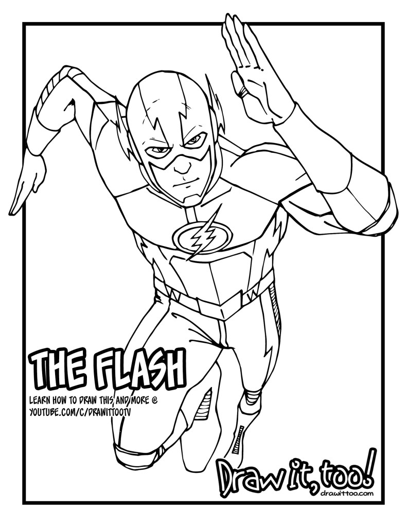 DOWNLOAD THE FLASH COLORING PAGE HERE