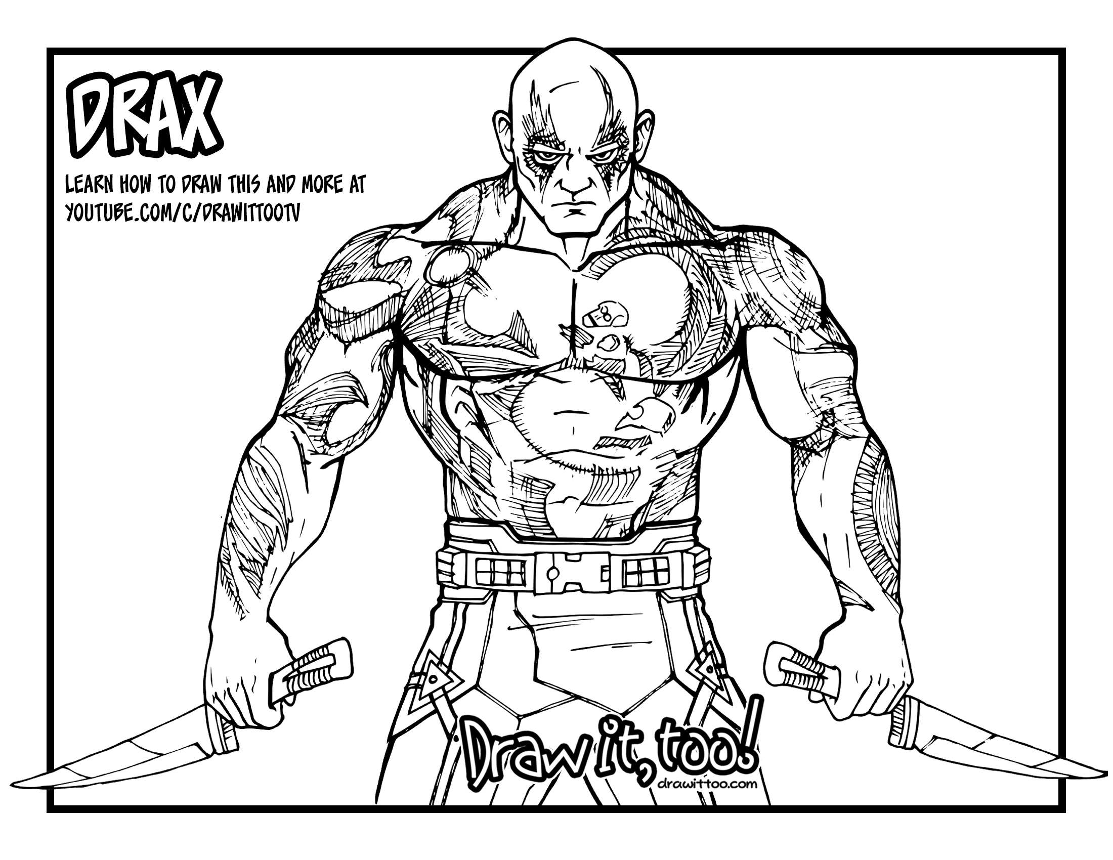 Drax the Destroyer (Guardians of the Galaxy) Drawing