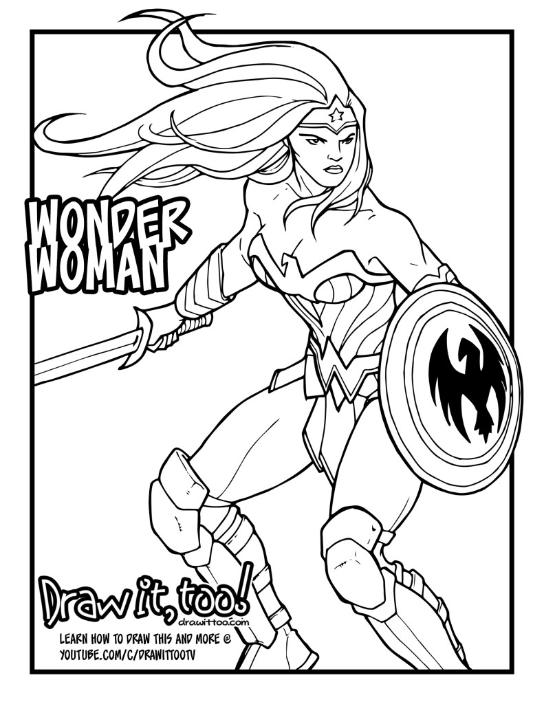 Coloring pages wonder woman - Share This
