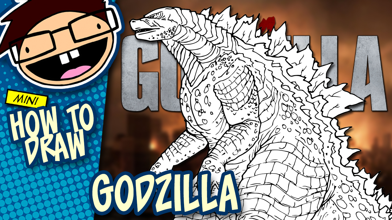 How to Draw GODZILLA (Godzilla [2014] Movie) Drawing Tutorial
