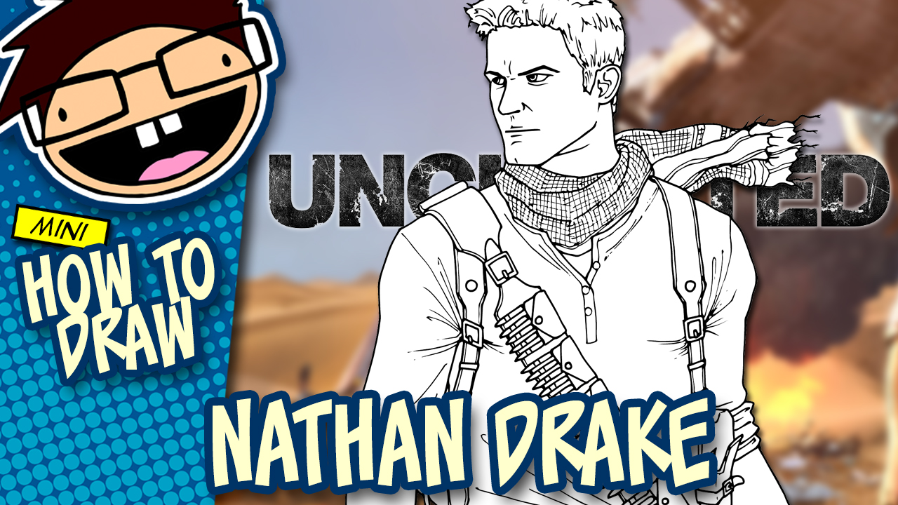 How to Draw NATHAN DRAKE (Uncharted) Drawing Tutorial