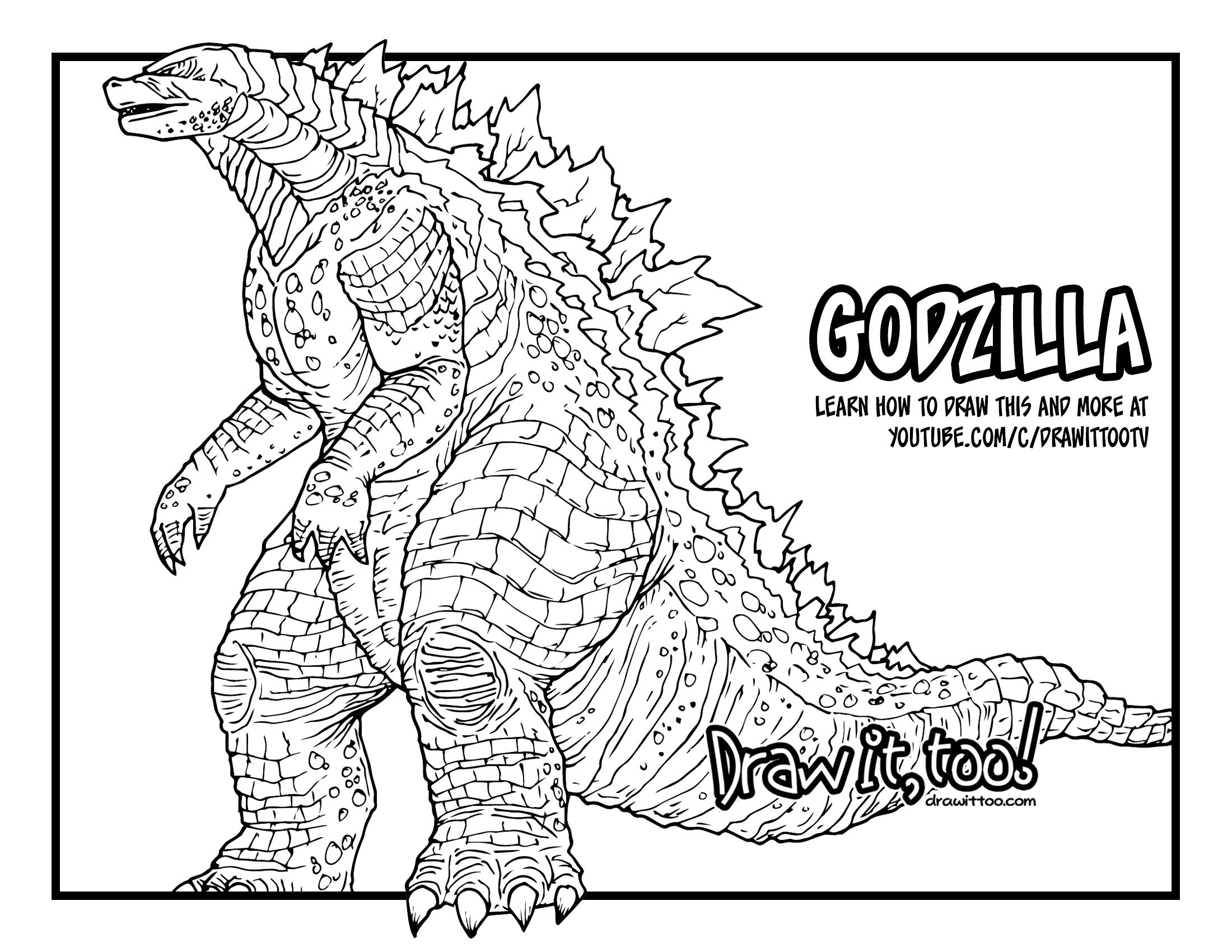 How to Draw GODZILLA (Godzilla [2014] Movie) Drawing