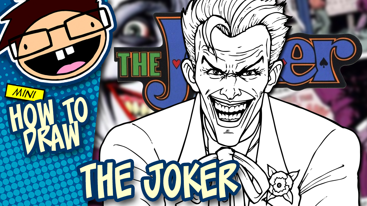 How to Draw THE JOKER (Comic Version) Drawing Tutorial