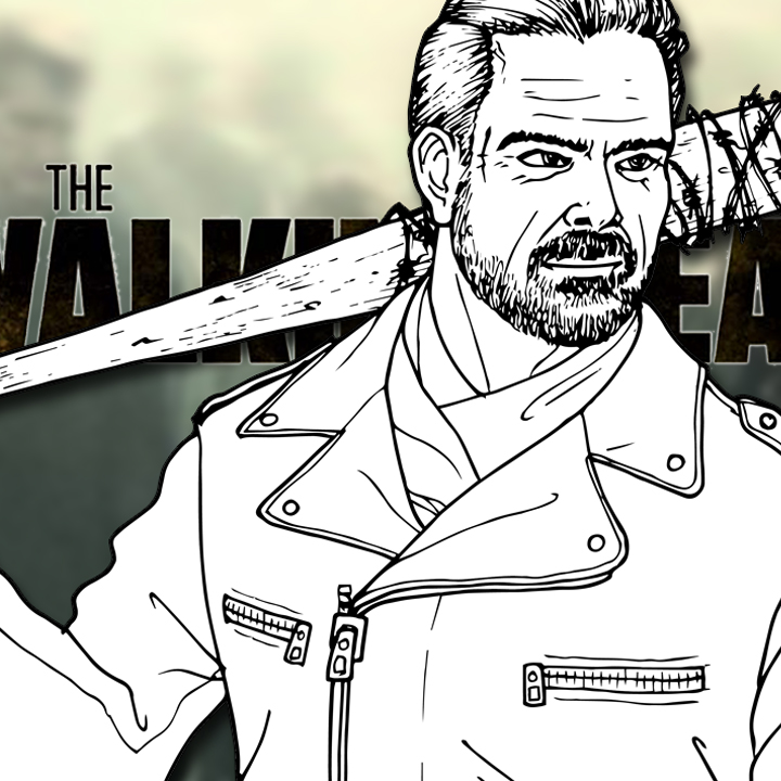 How to Draw NEGAN and LUCILLE (The Walking Dead) Drawing Tutorial